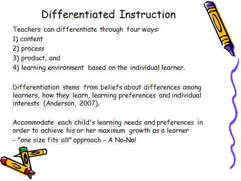 forms of differentiated instruction